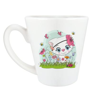 Чашка Латте Кошка