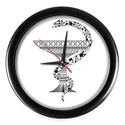 Настенные часы Змея с чашей