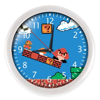 Настенные часы mario 8 bit