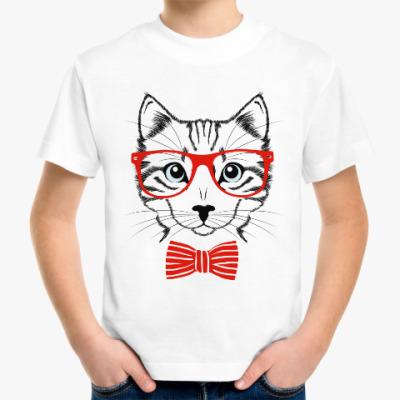 Детская футболка Кот ученный