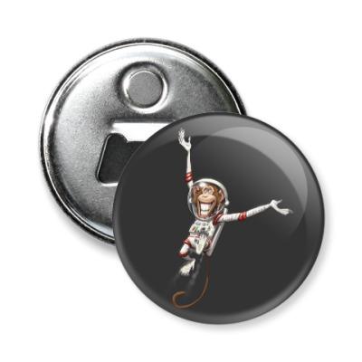 Магнит-открывашка Обезьянка Космонавт