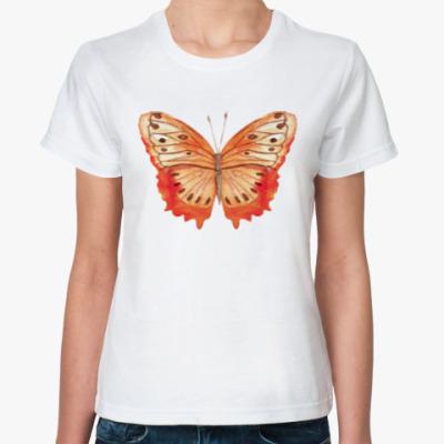Классическая футболка Бабочка 'Монарх'