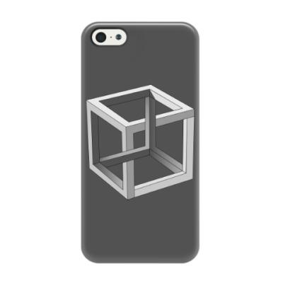 Чехол для iPhone 5/5s Невозможный Куб 3D