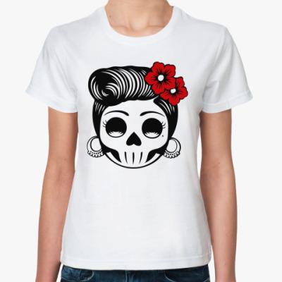 Классическая футболка  Skull Girl