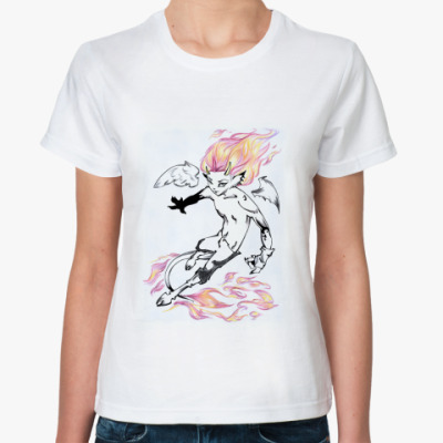 Классическая футболка Огненный демон