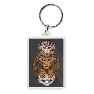 Брелок Три обезьяны символ года