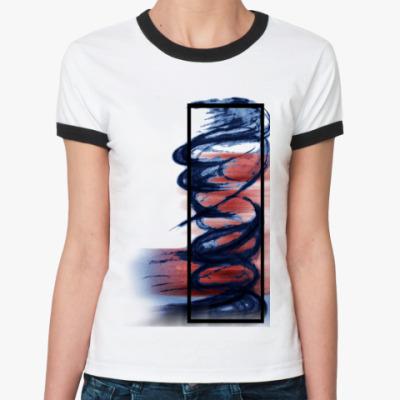 Женская футболка Ringer-T Чернила