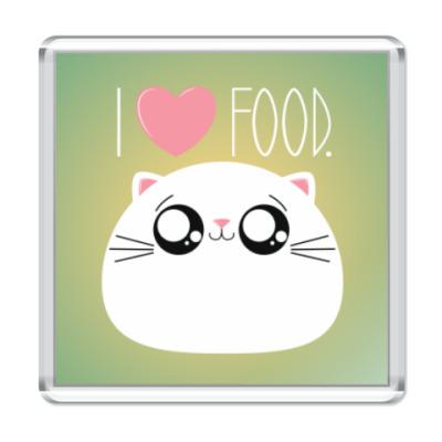 Магнит Я люблю еду I love food
