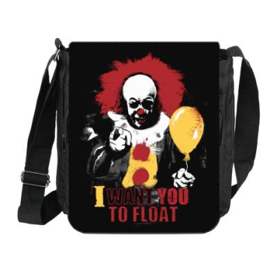 Сумка на плечо (мини-планшет) Clown It by Stephen King
