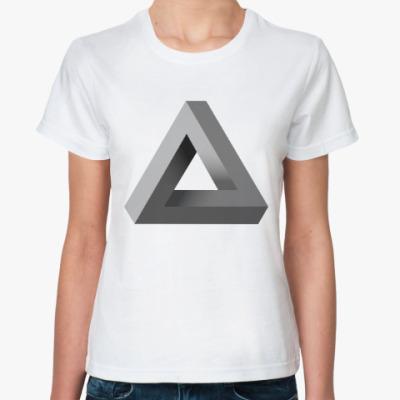 Классическая футболка Невозможный Треугольник 3D