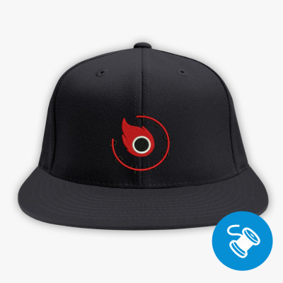 Кепка / бейсболка snapback (вышивка), черная Кепка snapback