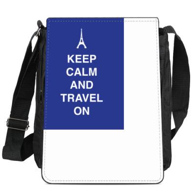 Сумка-планшет Keep calm and travel on