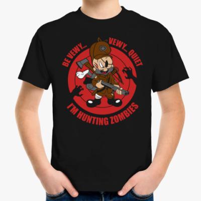 Детская футболка Be quiet . I'm hunting zombies