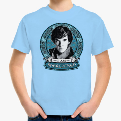 Детская футболка I am SHERlocked Шерлок Холмс
