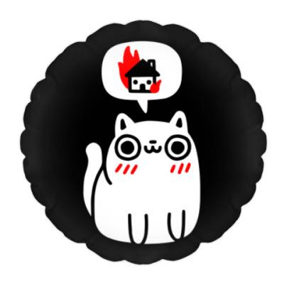 Подушка Котик злой