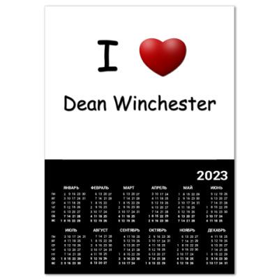 Календарь   I Love Dean