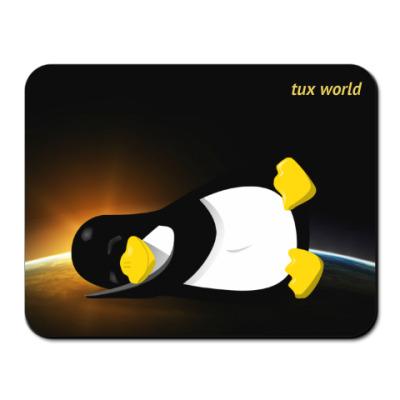 Коврик для мыши tux world