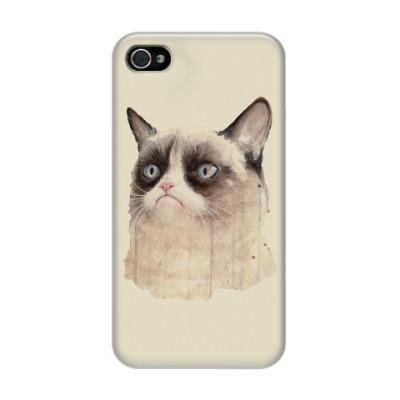 Чехол для iPhone 4/4s Grumpy Cat / Сердитый Кот