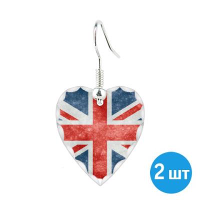 Серьги Британский флаг