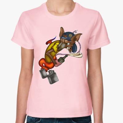 Женская футболка Rat