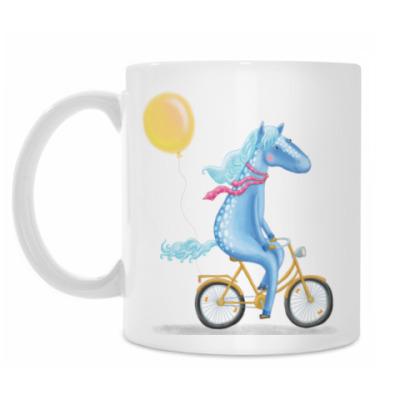 Кружка Лошадка на велосипеде