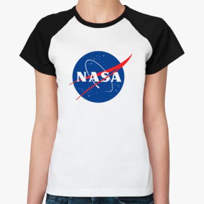 Женская футболка реглан NASA