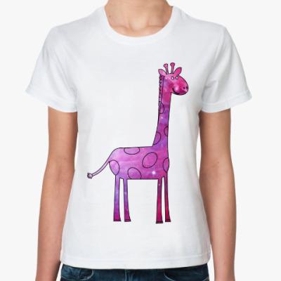 Классическая футболка Космический Жираф