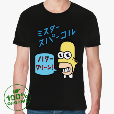 Футболка из органик-хлопка Симпсоны: Японский Гомер