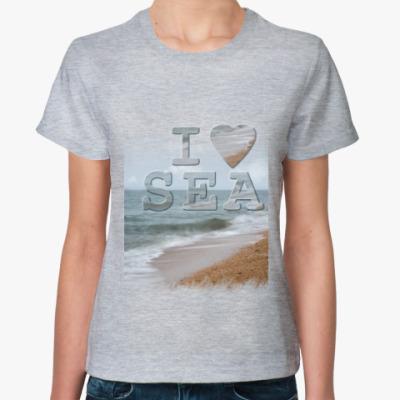 Женская футболка I LOVE SEA