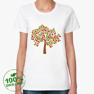 Женская футболка из органик-хлопка Яблоня