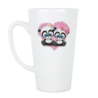 Чашка Латте Маленькие панды