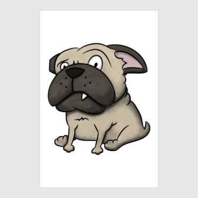 Постер grumpy dog