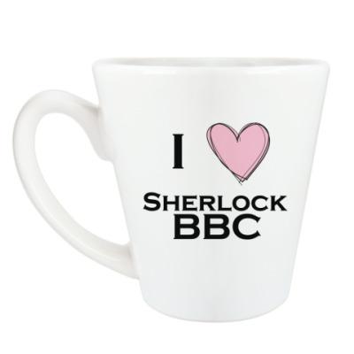 Чашка Латте I love Sherlock