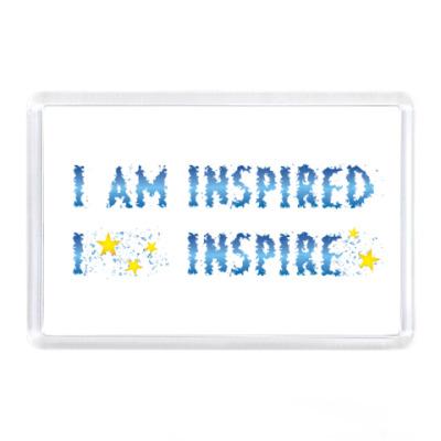 Магнит I am inspired & I inspire