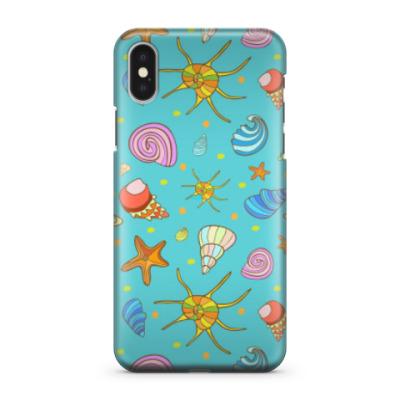 Чехол для iPhone X Ракушки в море