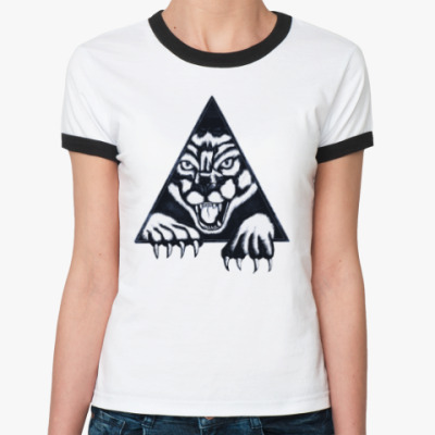 Женская футболка Ringer-T Пантера