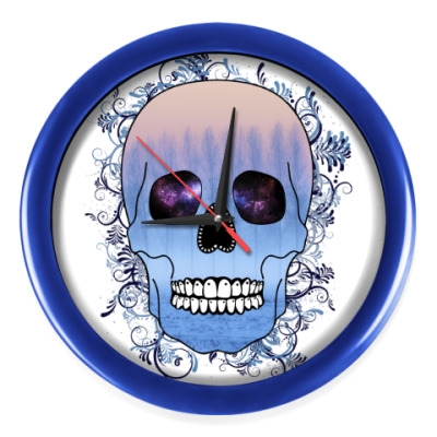 Настенные часы Череп Зима