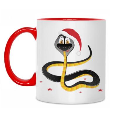 Кружка Черная водяная змея
