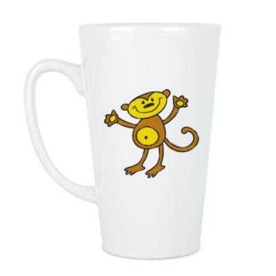 Чашка Латте Обезьянка