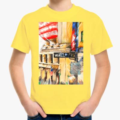 Детская футболка Уолл стрит