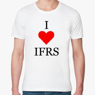Футболка из органик-хлопка I love IFRS