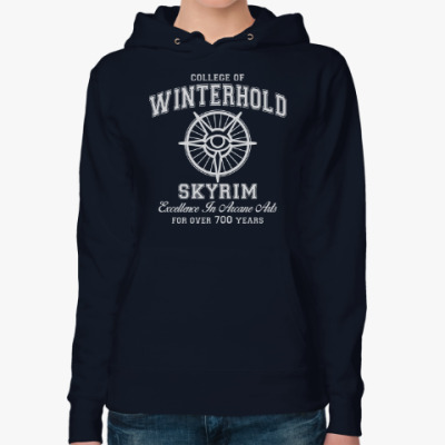 Женская толстовка худи Skyrim . College of Winterhold