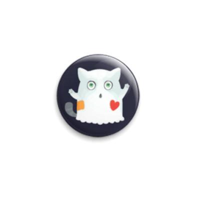 Значок 25мм Кот призрак