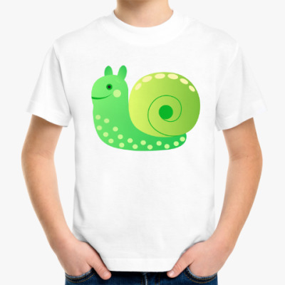 Детская футболка улиточка