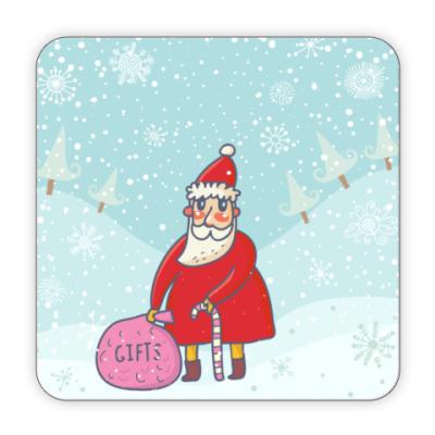 Костер (подставка под кружку) Дед мороз и подарки