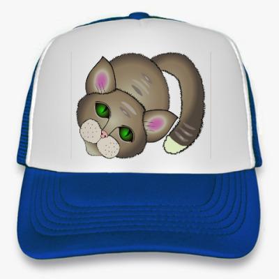 Кепка-тракер  Грустный котик