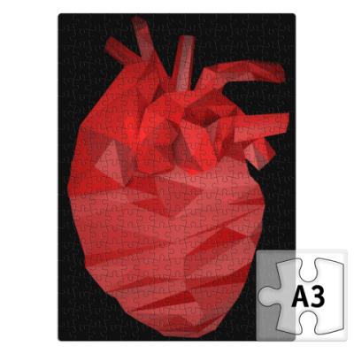 Пазл Сердце 3D