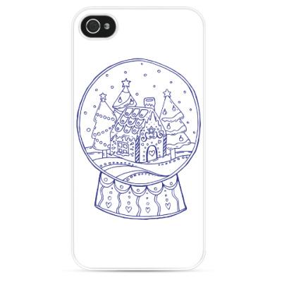 Чехол для iPhone Снежный шар