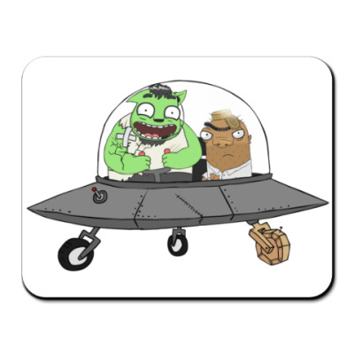 Коврик для мыши Неопознаный Летающий Шамиль
