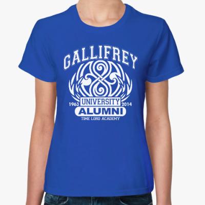 Женская футболка Gallifrey University Alumni